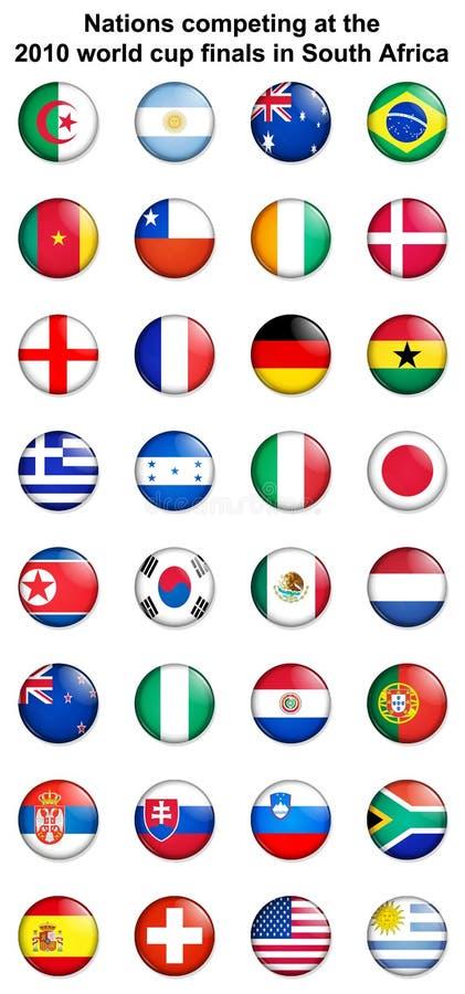 insignes 2010 de bouton de coupe du monde illustration stock