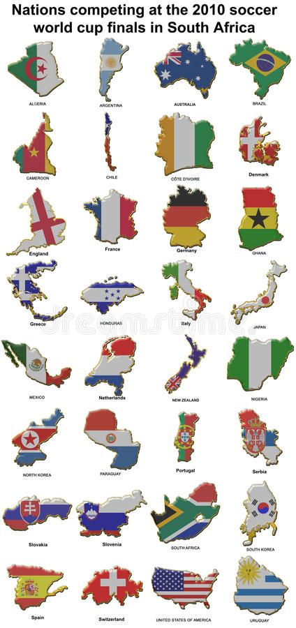 insignes 2010 de broche en métal de coupe du monde illustration stock