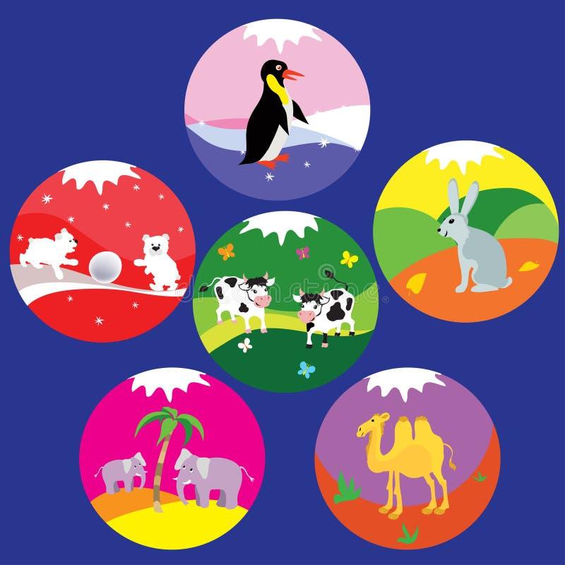 Insignes animaux illustration libre de droits