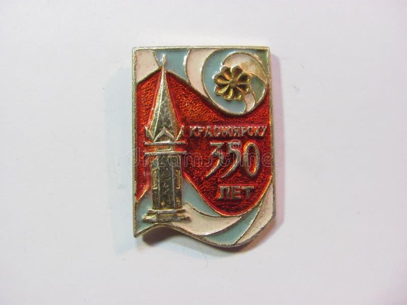 Insignes 350 ans de Krasnoïarsk photos stock
