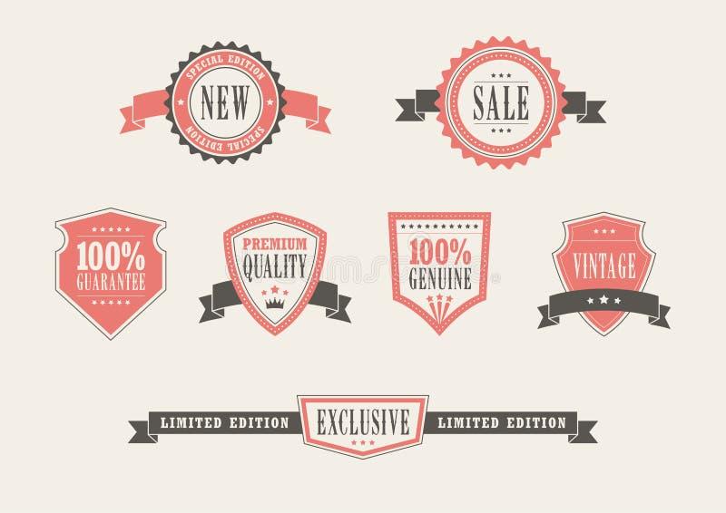 Insignes au détail de vintage illustration libre de droits