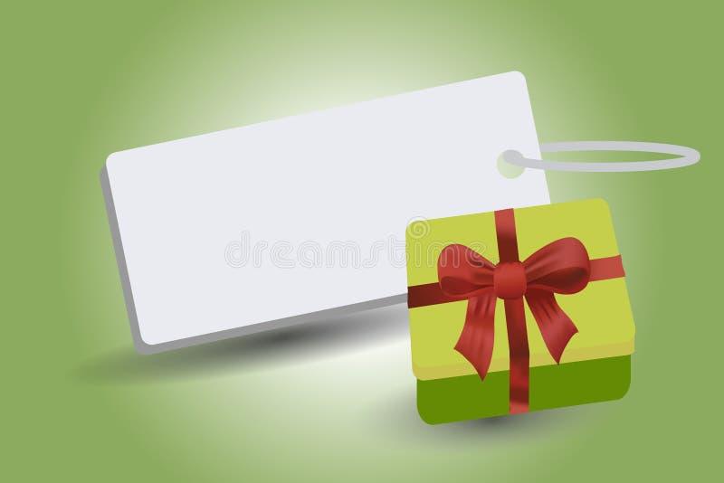 Insignes avec le boîte-cadeau illustration de vecteur
