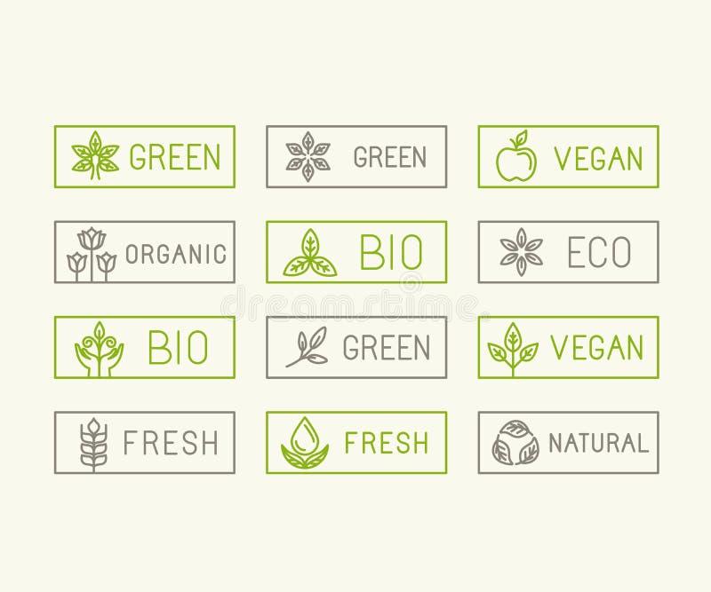 Insignes d'écologie de vecteur illustration libre de droits