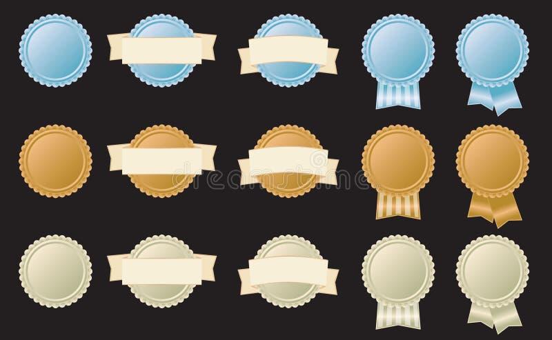 Insignes de capsule photo libre de droits