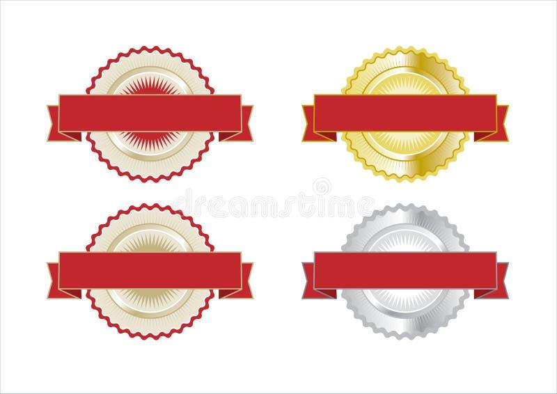 Insignes de certificat de garantie illustration de vecteur