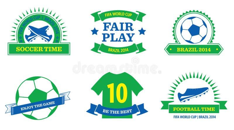 Insignes de la coupe du monde 2014 illustration libre de droits