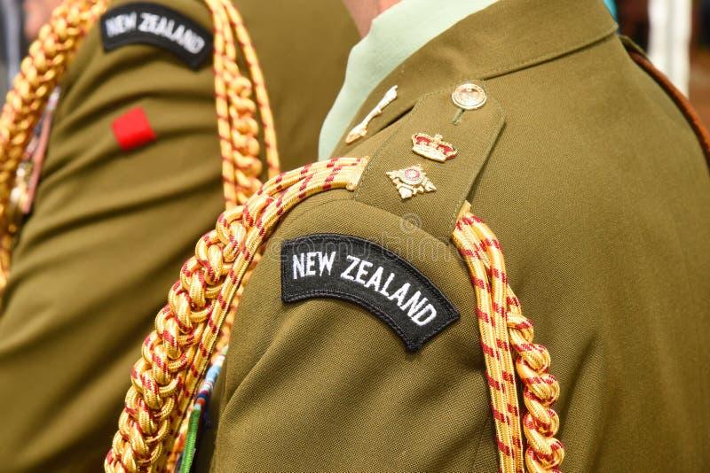 Insignes de rang de lieutenant-colonel d'armée du Nouvelle-Zélande photographie stock libre de droits