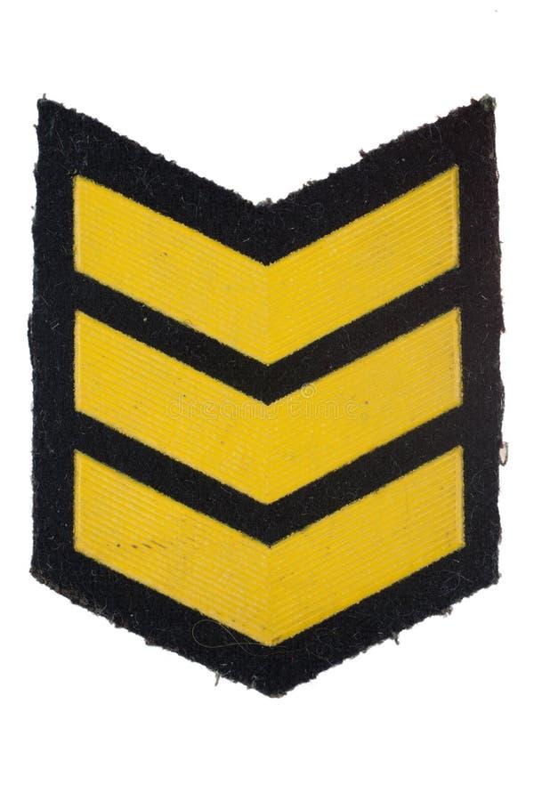 Insignes de rang militaire photographie stock