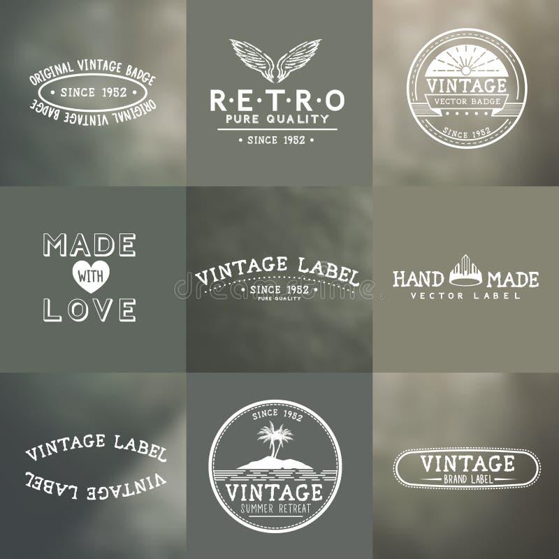 Insignes de vecteur de vintage illustration libre de droits
