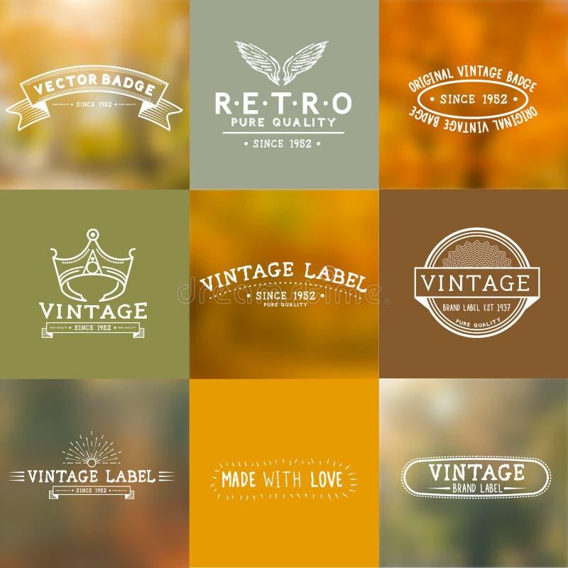 Insignes de vecteur de vintage illustration de vecteur