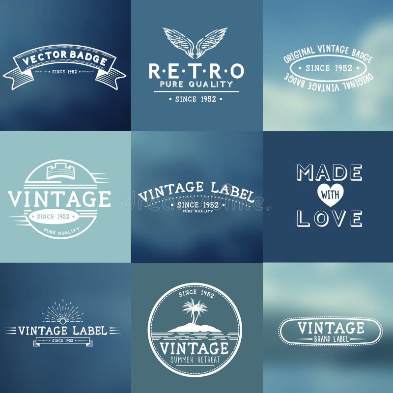 Insignes de vecteur de vintage illustration stock