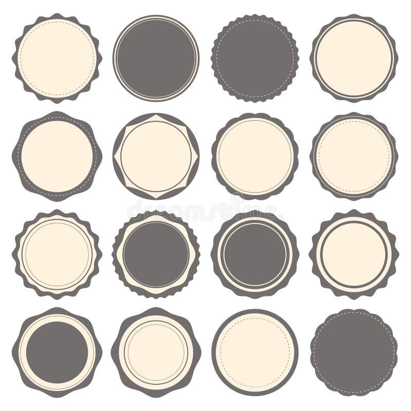 Insignes de vintage, labels et calibre de logo Éléments de conception de vecteur illustration libre de droits