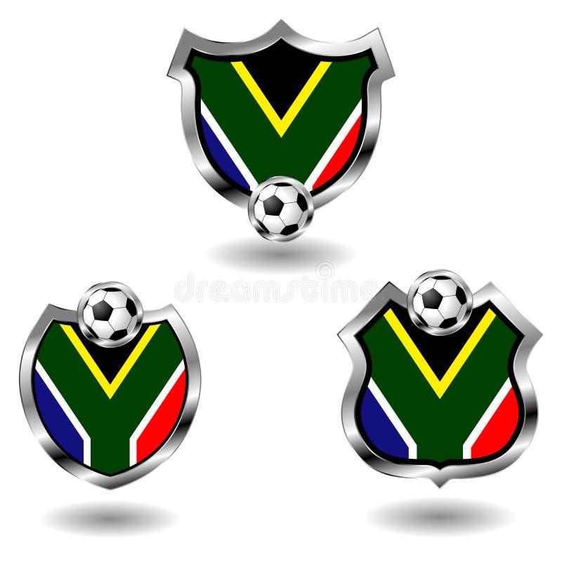 Insignes du football de l'Afrique du Sud illustration libre de droits