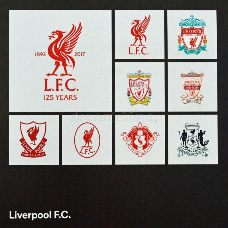 Insignes du football de Liverpool images stock