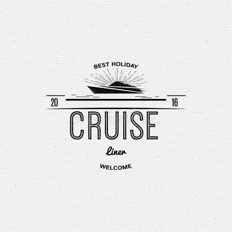 Insignes en etiketten van de cruise de de beste reis voor om het even welk vector illustratie