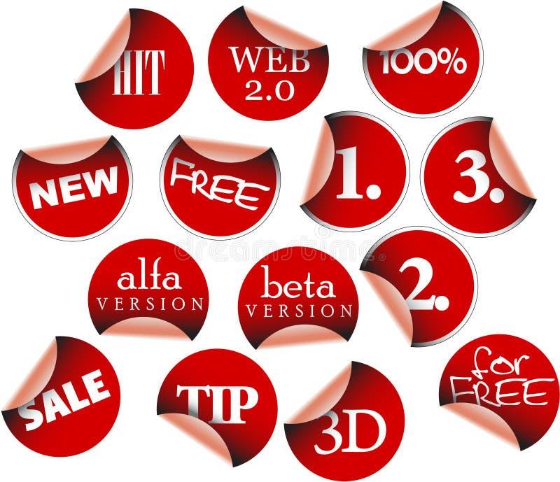 Insignes et collants d'étiquettes illustration libre de droits