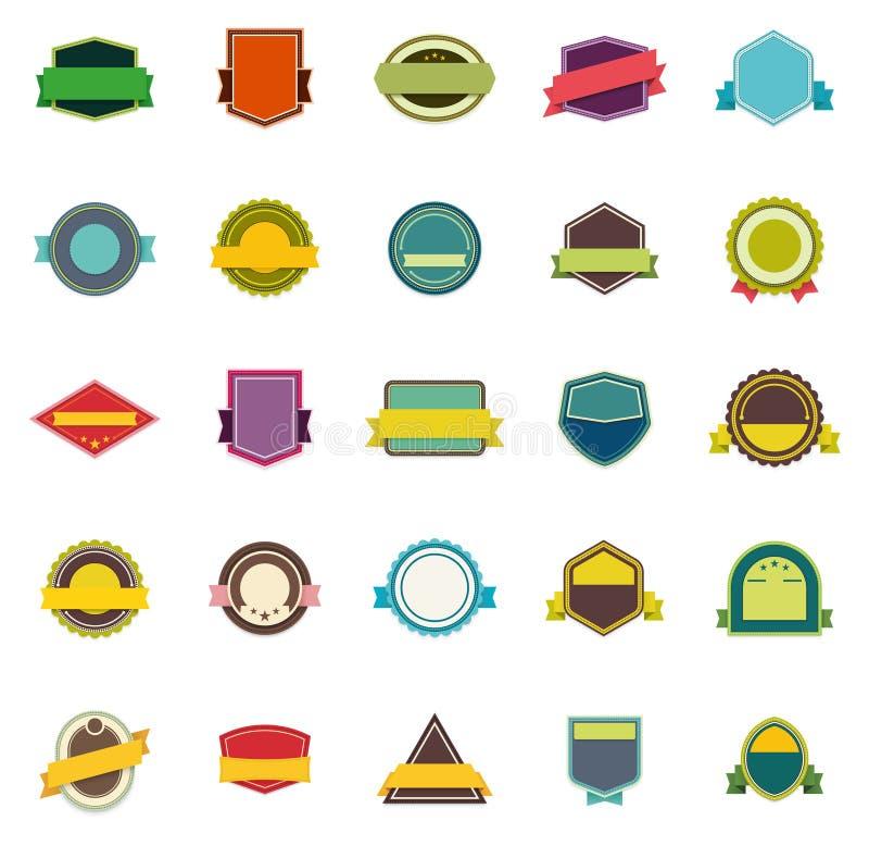 Insignes et rubans de vecteur illustration stock