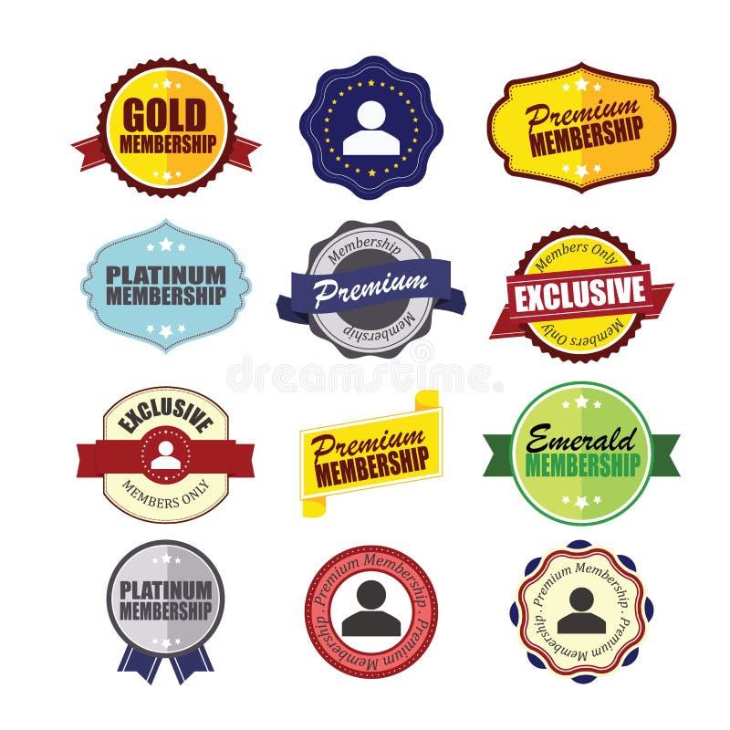 Insignes privés d'adhésion illustration stock