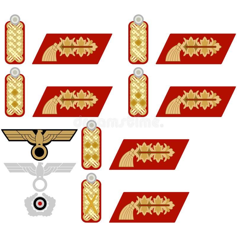Insignes van het Wehrmacht-algemeen royalty-vrije illustratie