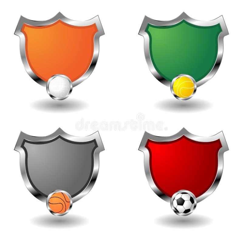 Insignes vides de sport au-dessus de blanc illustration libre de droits