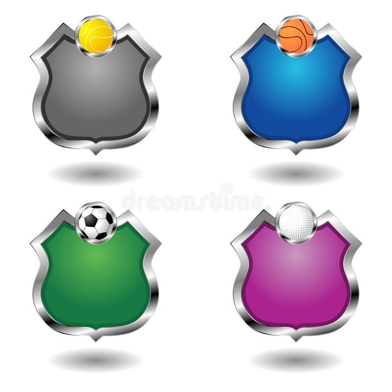 Insignes vides de sport réglés illustration de vecteur