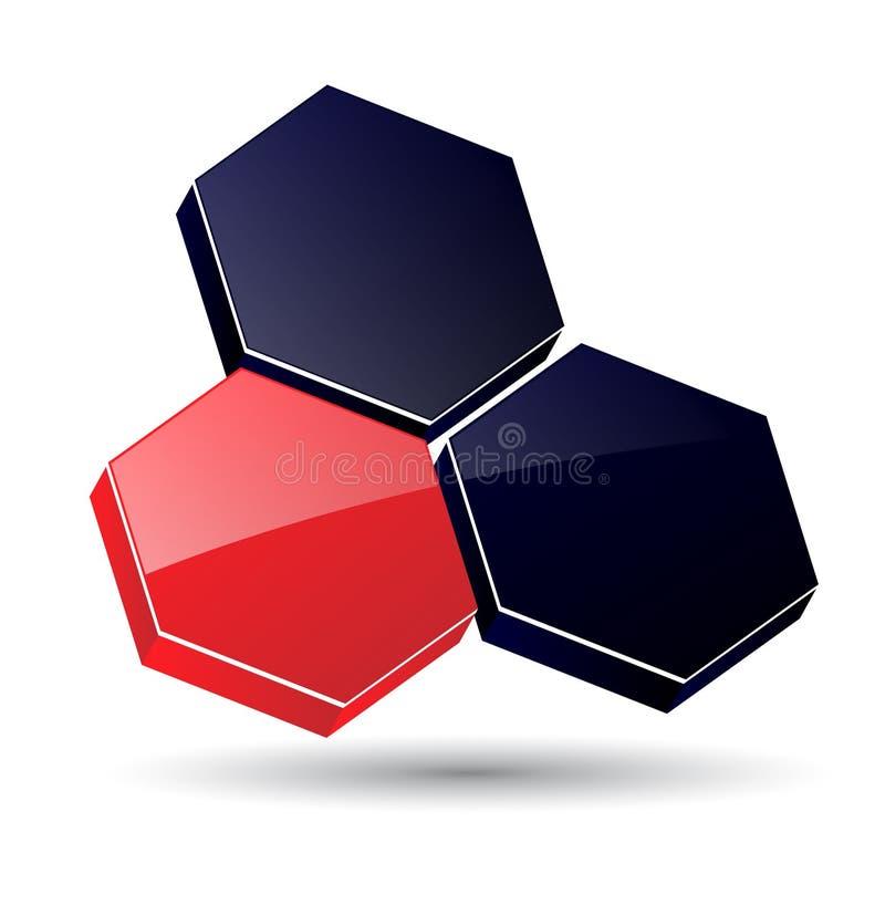 Insignia 3D stock de ilustración