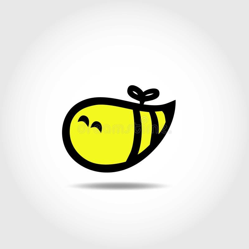 Insignia abstracta de la abeja ilustración del vector