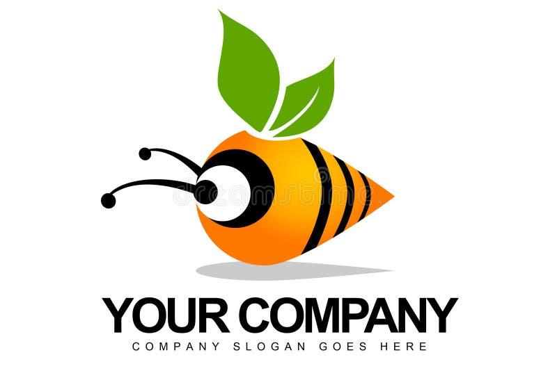 Insignia abstracta de la abeja stock de ilustración