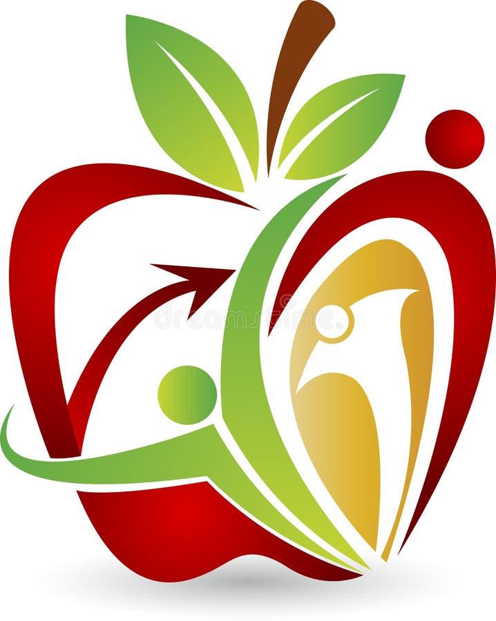 Insignia activa de la manzana stock de ilustración