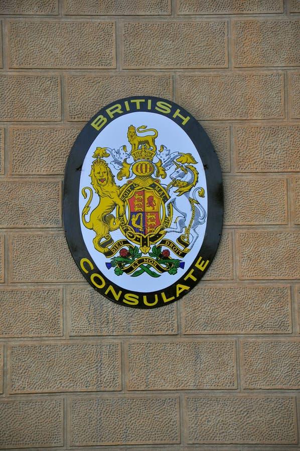 Insignia británica del consulado foto de archivo libre de regalías