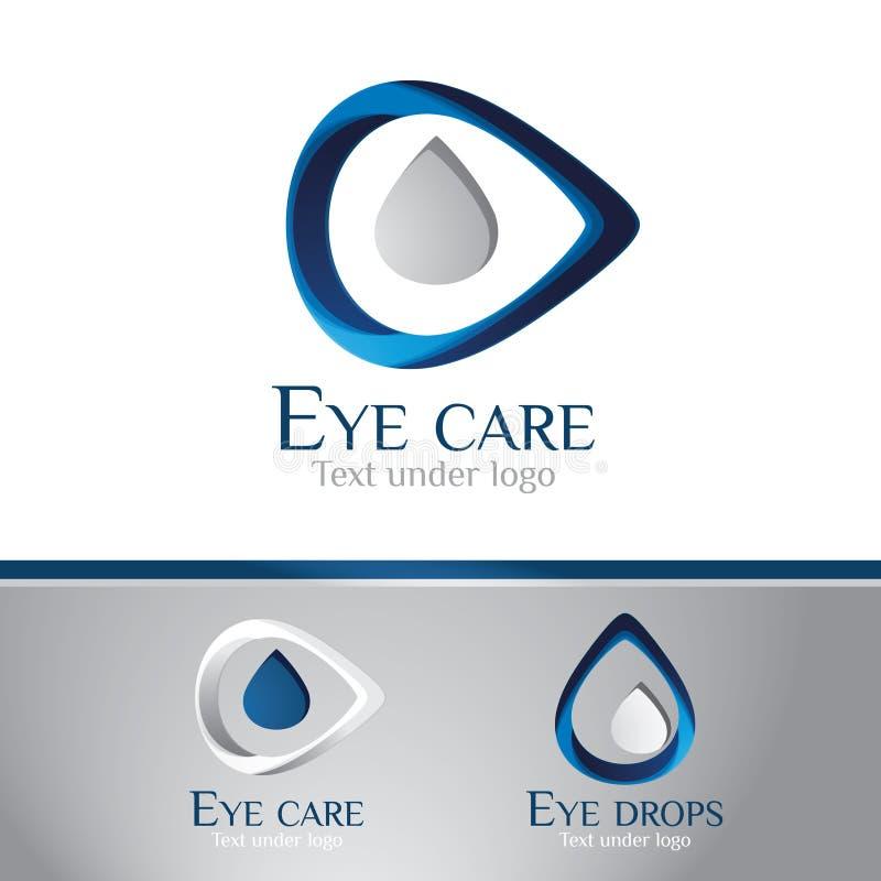 Insignia - centro de cuidado del ojo stock de ilustración