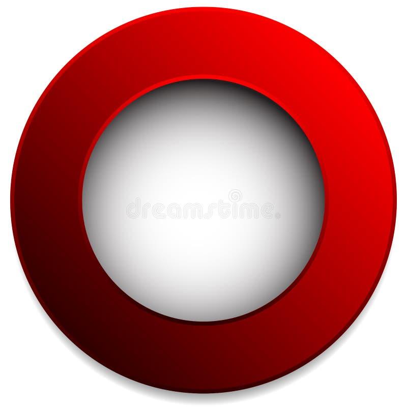 Insignia colorida del círculo, botón, perno, elemento de la etiqueta En blanco, vacío stock de ilustración