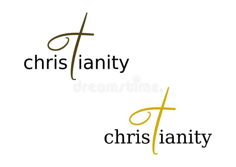 Insignia: Cristianismo ilustración del vector