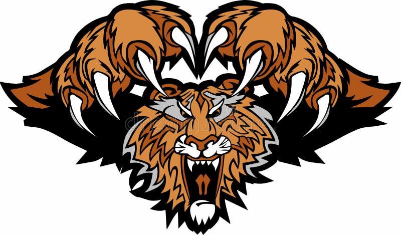 Insignia de ataque repentino de la mascota del tigre libre illustration