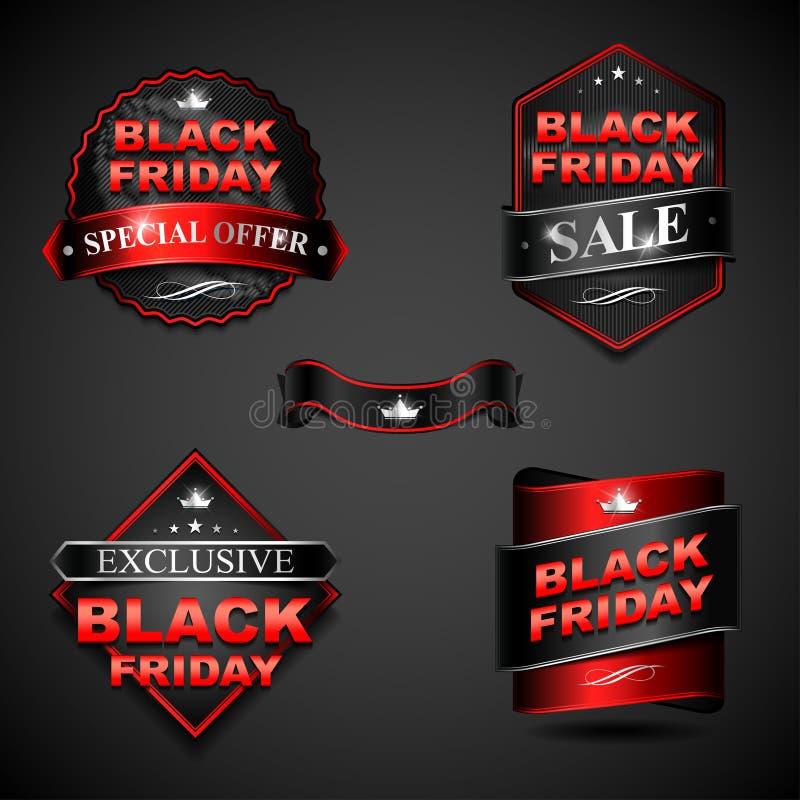 Insignia de Black Friday ilustración del vector