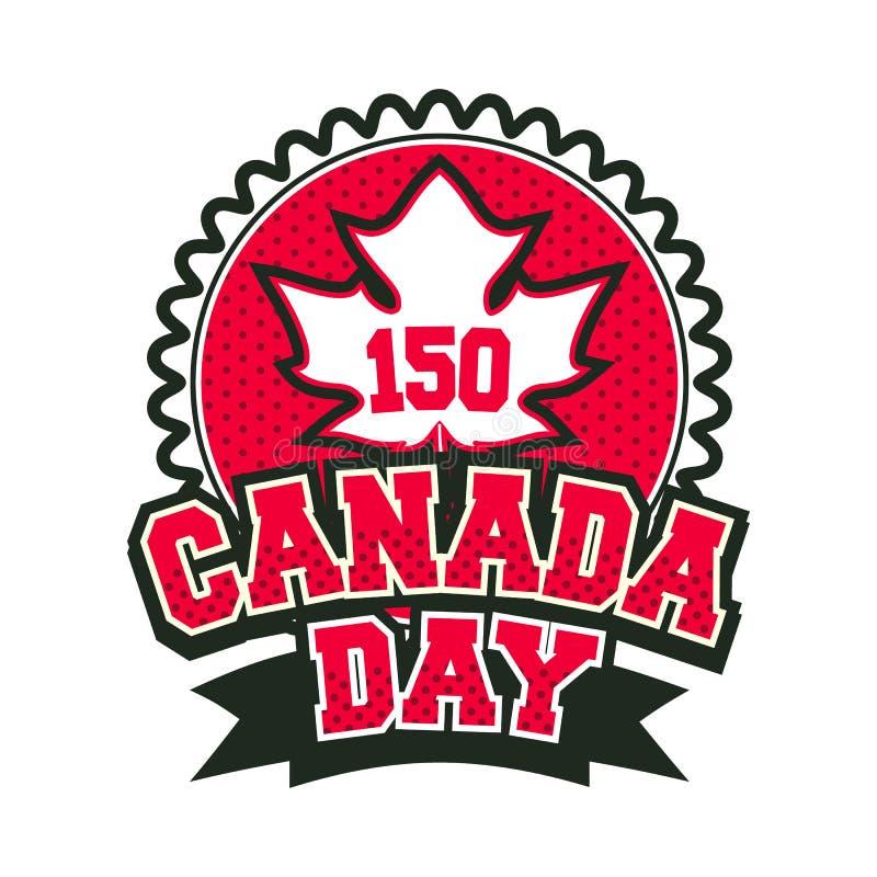 Insignia de Canadá del día stock de ilustración