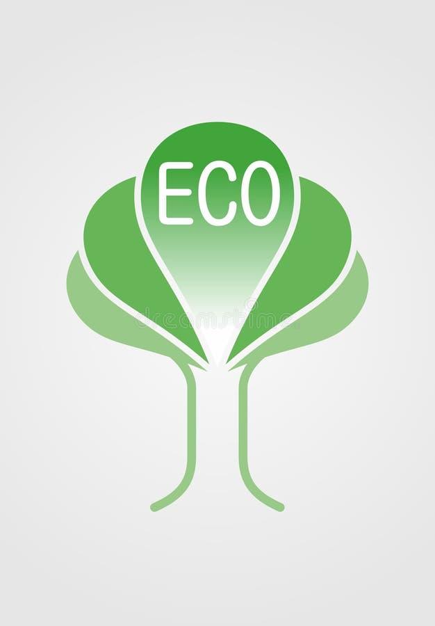 Insignia de Eco fotos de archivo libres de regalías