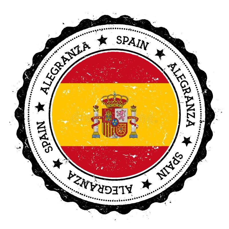 Insignia de la bandera de Alegranza stock de ilustración