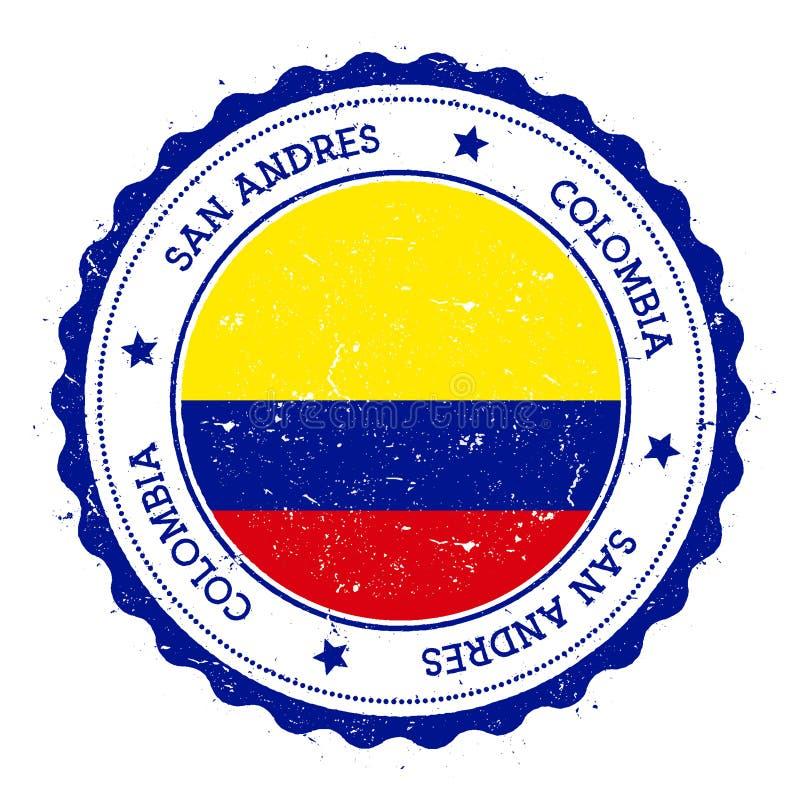 Insignia de la bandera de San Andres libre illustration