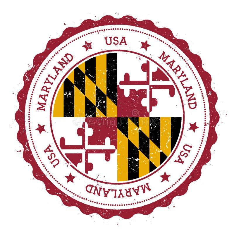Insignia de la bandera de Maryland stock de ilustración