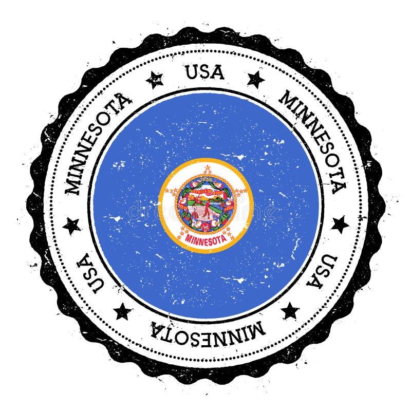 Insignia de la bandera de Minnesota stock de ilustración