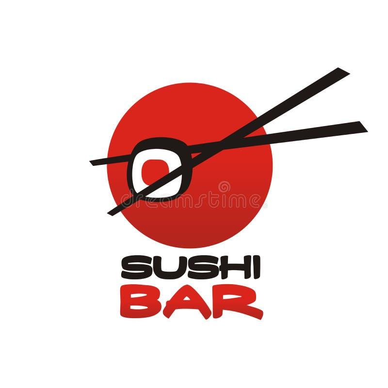 Insignia de la barra del sushi stock de ilustración