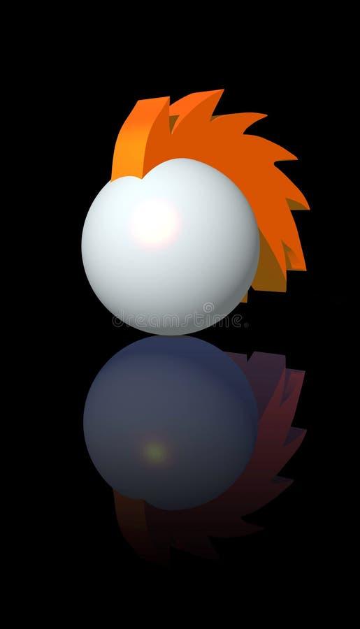 Insignia de la bola del Mohawk stock de ilustración