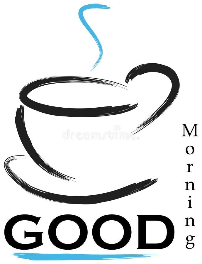 Insignia de la buena mañana ilustración del vector