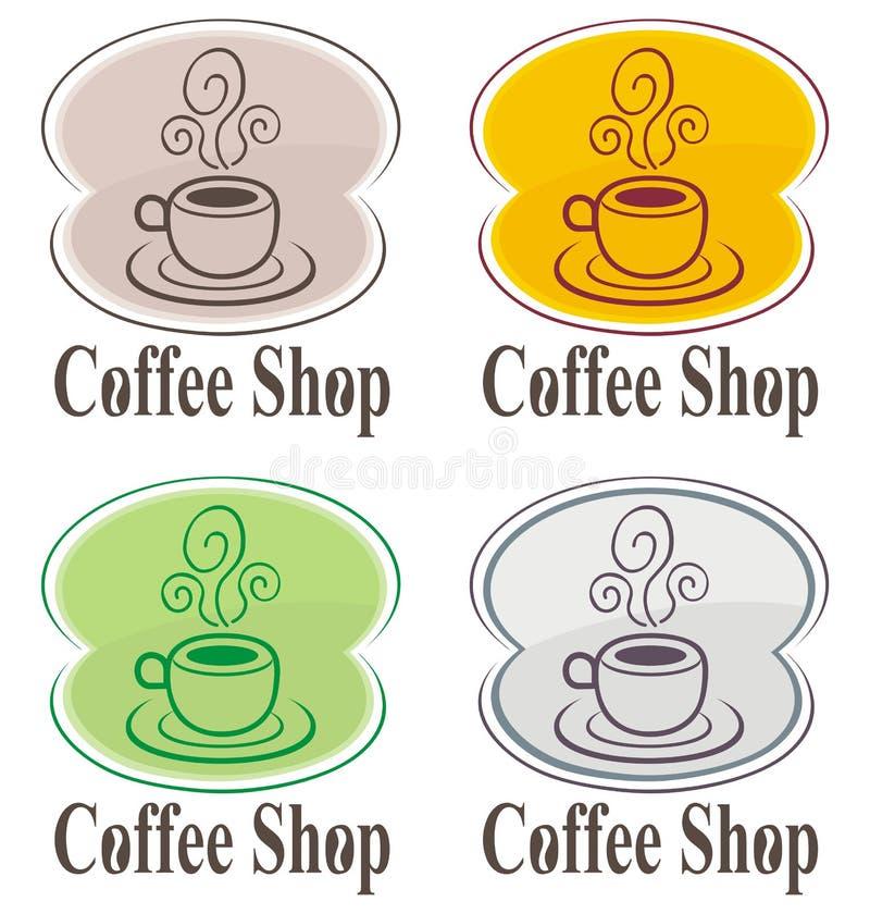 Insignia de la cafetería stock de ilustración