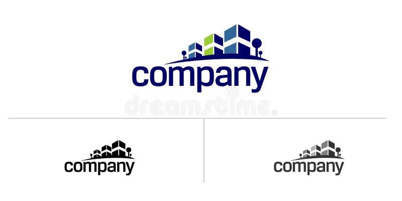 Insignia de la casa de las propiedades inmobiliarias stock de ilustración