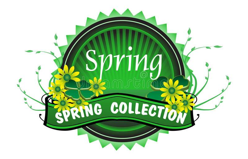Insignia de la colección de la primavera libre illustration