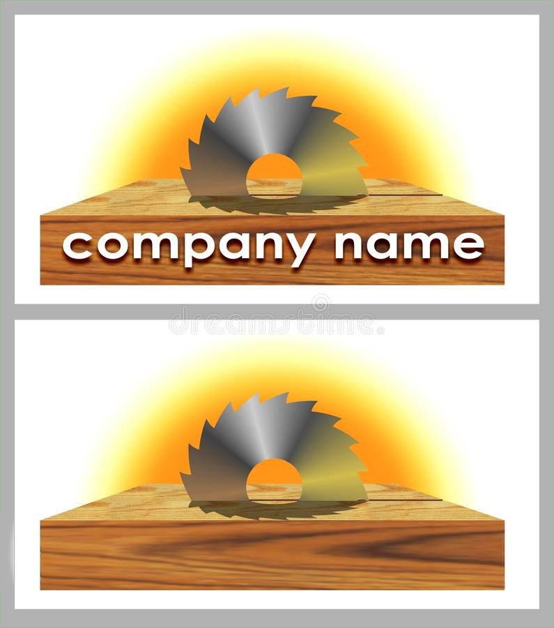 Insignia de la compañía de la carpintería ilustración del vector