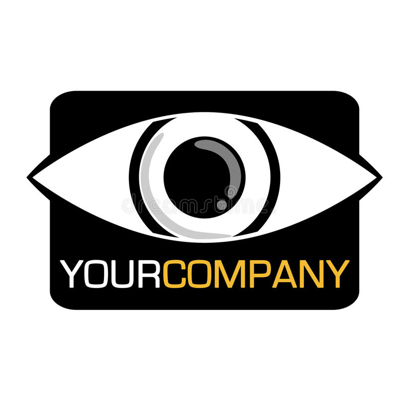 Insignia de la compañía del ojo stock de ilustración