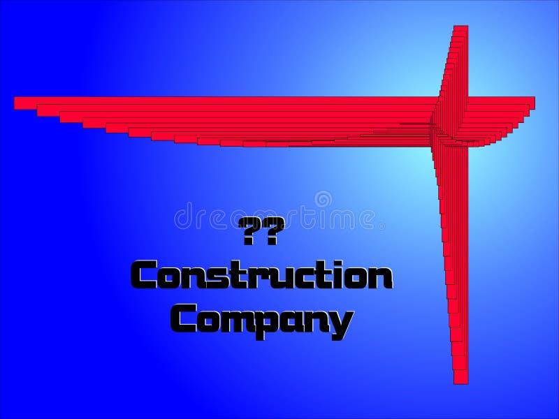 Insignia de la construcción stock de ilustración